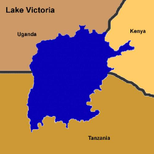 نقشه دریاچه ویکتوریا