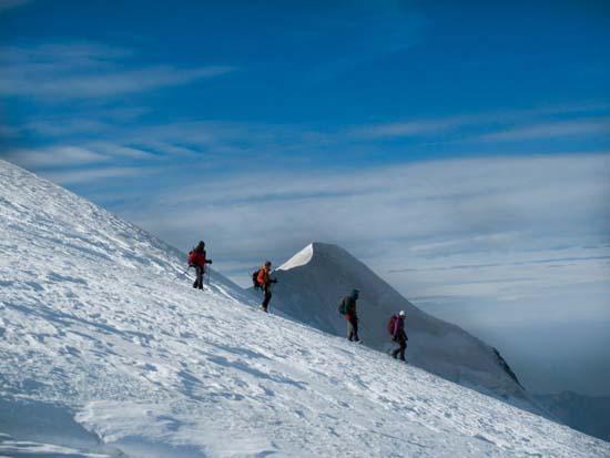 بازگشت از قله مونبلان مون بلان