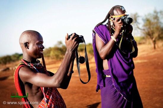 قبیله ماسایی  دور از تکنولوژی