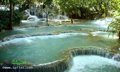 استخرهای طبیعی در آبشار خوانگسی