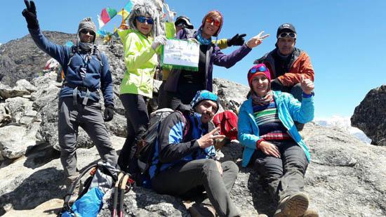 همنوردان اسپیلت البرز در مسیر بیس کمپ اورست به قله ی 5030 متری Nagarjun هم صعود کردند