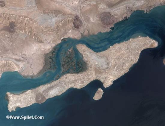 تور قشم- نقشه هوایی