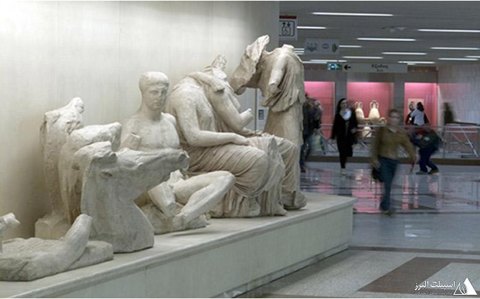 مترو اتن آثار باستانی یونان