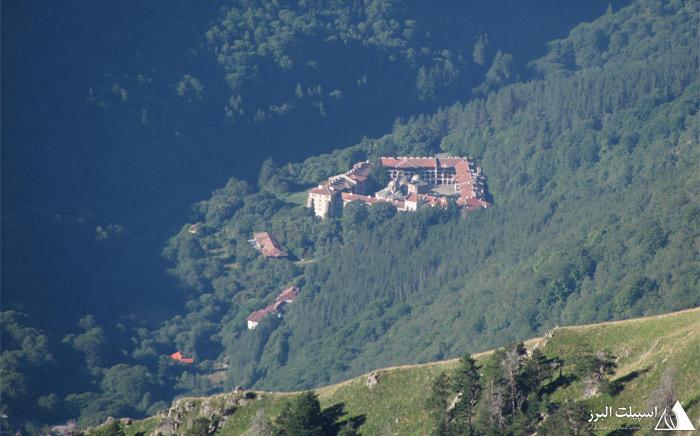 تصویر هوایی صومعه ریلا