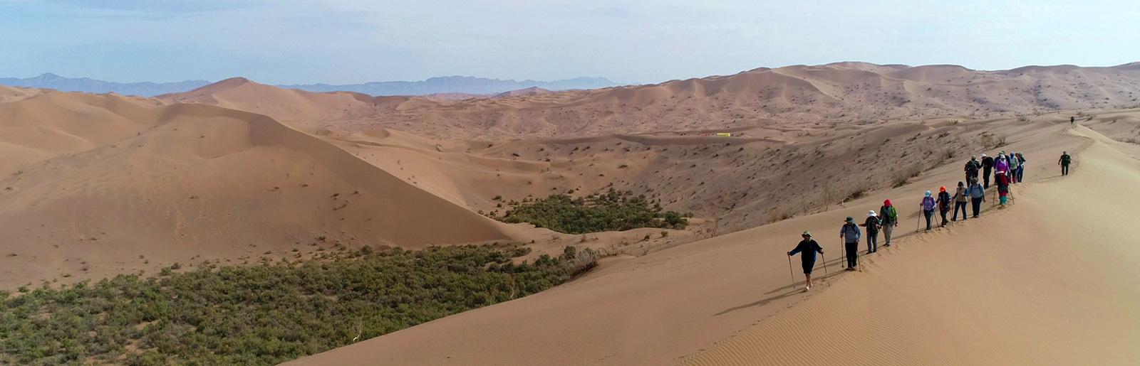 Desert Trekking in Rig-e Jenn; the Mysterious Dunes of Genie