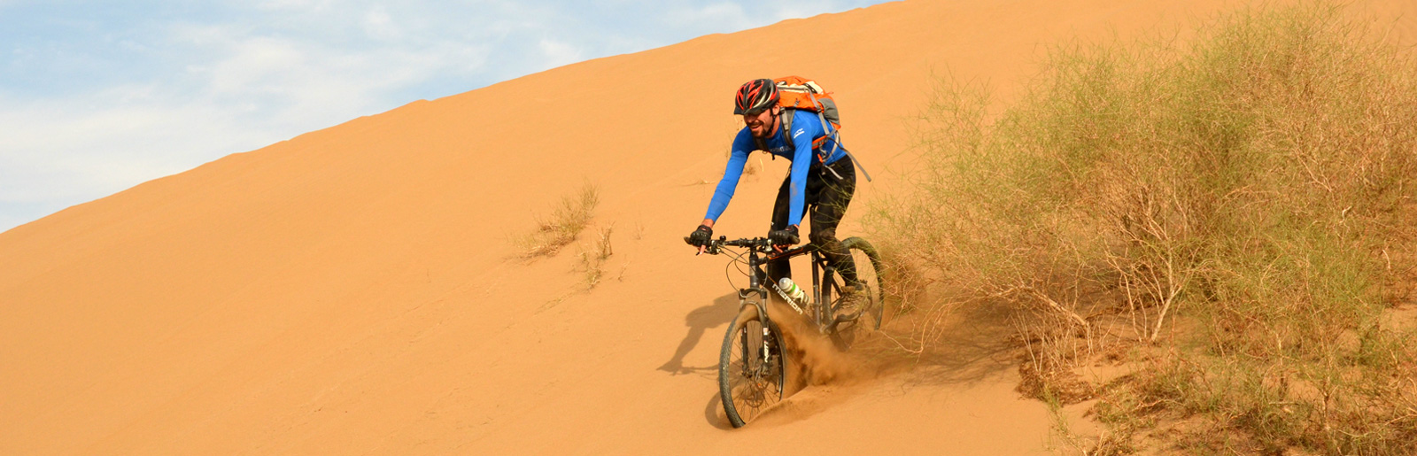 Biking in Central Desert of Iran